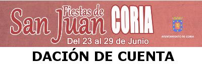 DACI�N DE CUENTA DE LAS FIESTAS DE SAN JUAN 2015