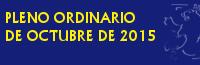 Pleno Ordinario de Octubre de 2015