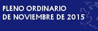 PLENO ORDINARIO DE NOVIEMBRE DE 2015