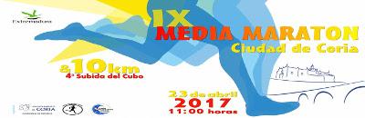 IX Media Maratón Ciudad de Coria - 23 de abril de 2017