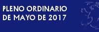 Pleno Ordinario de Mayo de 2017