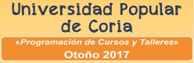 Cursos y Talleres para Otoño 2017 en la Universidad Popular de Coria