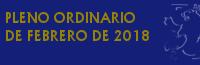 Pleno Ordinario de Febrero de 2018