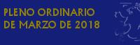 Pleno Ordinario de Marzo de 2018