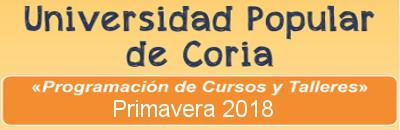 Cursos -Primavera 2018 - Universidad Popular de Coria