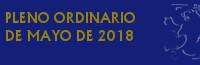 Pleno Ordinario de Mayo de 2018