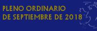 Pleno Ordinario de Septiembre de 2018