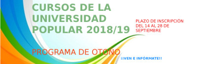Cursos Universidad Popular - Otoño de 2018
