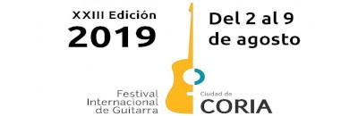 XXIII Festival Internacional de Guitarra de Coria del 2 al 9 de agosto 2019
