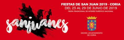 Fiestas de San Juan - Coria del 23 al 29 de Junio de 2019