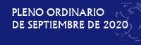 Pleno Ordinario de Septiembre de 2020